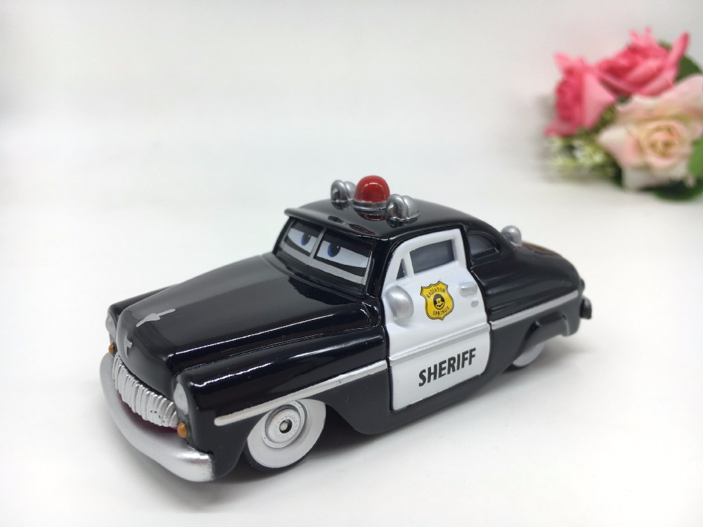 Pixar Cars 2 Sheriff Diecast Metal Classic Toy cars for Kids Children Brio Toy Car 1:55 for children kids toys thomas and friend pixar cars holly shiftwell metal diecast toy car 1 55 carros pixar cars 2 pixar metal original brio toys for children collection