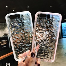 For iPhone X Xs Max 6 6S 7 8 Plus XR Case Luxury Diamond Texture Transparent Cover Silicone Soft Phone Back Cases