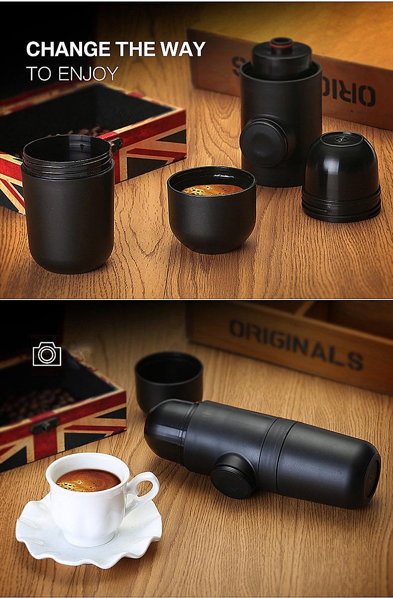Condensed portable mini coffee machine