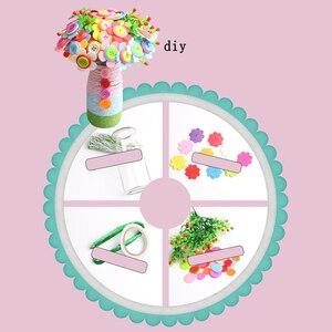Image 4 - DIY ремесло, домашнее украшение, Детские войлочные лепестки, образовательный букет, детский сад, детская игрушка, кнопка, цветочный набор, случайный цвет