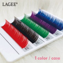 Get more info on the LAGEE 1Case Red Brown Purple Blue Green Natural Colored False Eyelash Extensions Premium Soft Natural Rainbow Cilia Lash