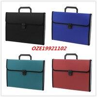 1 ADET Siyah Mavi Yeşil Kırmızı Plastik Konut 13 Cepler Kağıtları Belge Dosya Tutucu Çanta