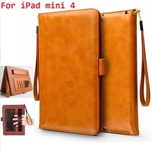 Buy mini briefcase business card holder and get free shipping on for ipad mini 4 retro briefcase hand belt holder leather case auto wake up sleep colourmoves