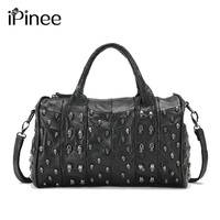 Top Fashion Genuine Leather Handbag Women Messenger Bags Famous Brand Patchwork Luxury Skull Bag