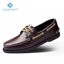Spring Summer Boat Shoes Vintage Mens Casual Shoes Loafers Genuine Leather Handmade
