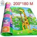 Authorized Authentic Maboshi Doulble-Site 2*1.8 M Play Mat Giraffe And Bear Crawling Mat Kids Child Picnic Carpet Baby CJL0012