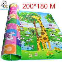 Maboshi Waterproof Double Sides 2 1 8 M Children Play Mat Giraffe And Bear Baby Crawling