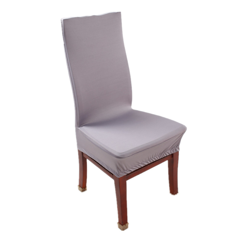 grey polyester spandex dining chair covers for wedding