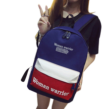 Summer Trend of Simple Solid Color Canvas Backpack Leisure Women Men Travel Bag and College Wind Student