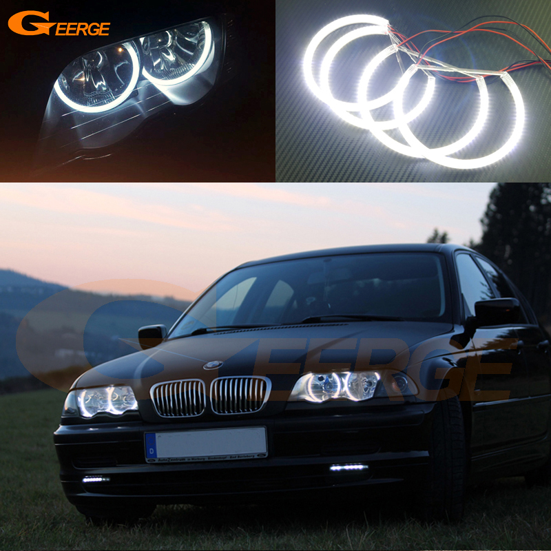 For BMW E46 3er Pre-facelift 1998-2001 Halogen headlight Excellent angel eyes Ultra bright illumination smd led Angel Eyes kit графин со стаканами e jin pei er