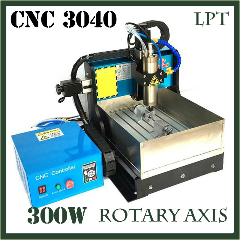 JFT New Design 300W Engraving Machines with Water Tank 4 Axis CNC Machine with Parallel Port Good Price CNC Router 3040  jft cnc 3040 router 800w 4 axis parallel port new type high precision easy operate cnc3040 cutting router engraving machine