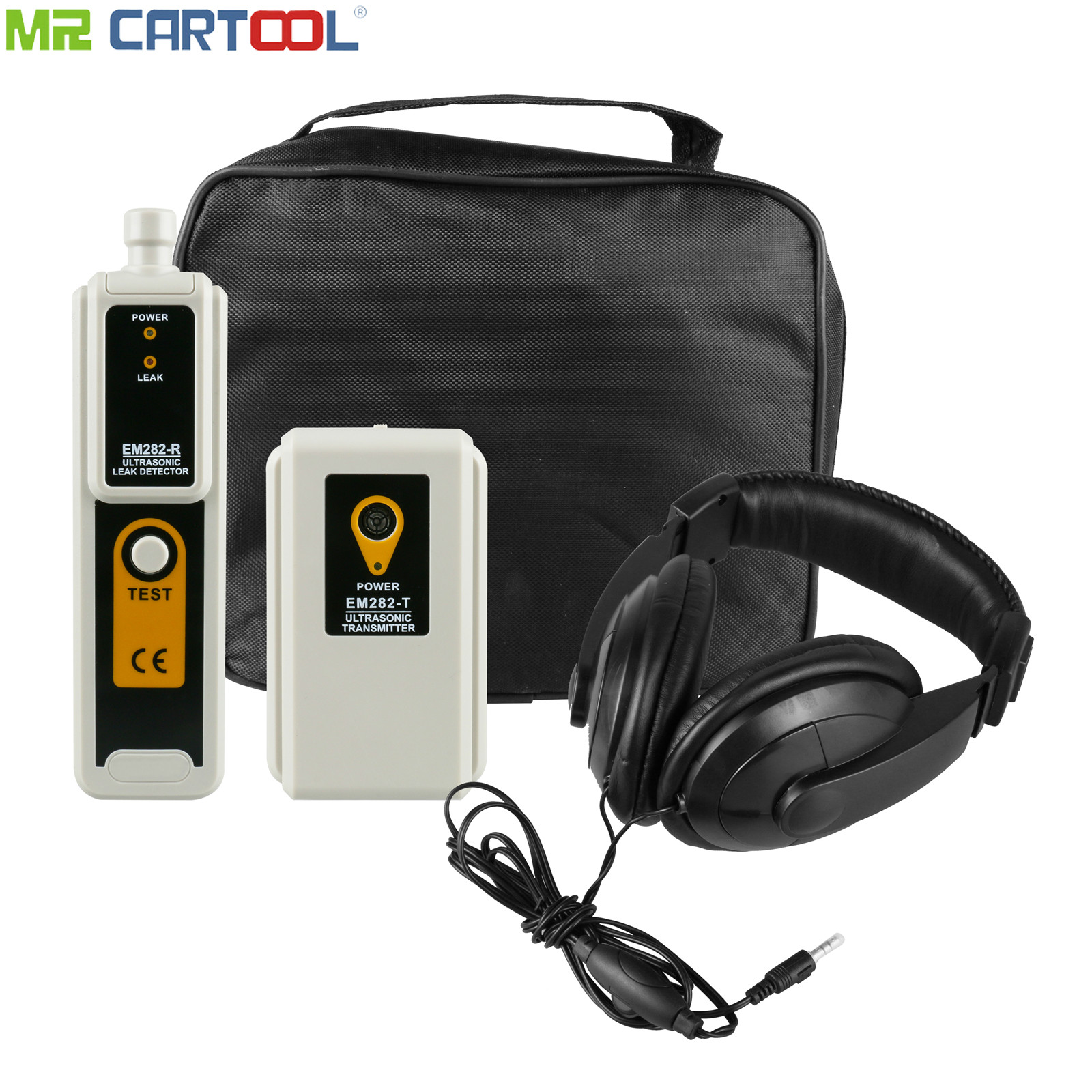 Gas Detection Ultrasonic Leak Detector Transmitter Pressure Vaccum System Locator Detects Air Gas Diagnosis Kit LED