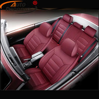 AutoDecorun 19PC/Set Perforated Cowhide Seat Cushion Cover for Citroen C5 Accessories Seat Cover Car Leather Protector 2004 2007