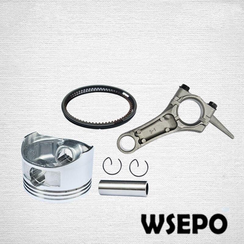 ¡CQ calidad! Pistón + biela para motor de gasolina 168F/GX200 6.5hp 196cc, 2KW ~ 2.5KW, piezas del generador