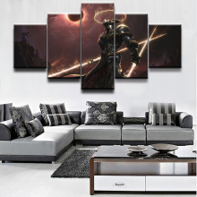 HD Print Painting Modern Home Decor Picture Fantasy Warrior Game 5 Pieces Poster Canvas Wall Art  Living Room