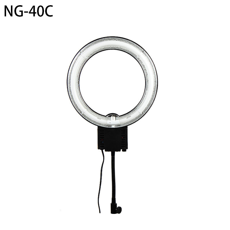40W Ring Shaped NG-40C 1297LM 5400K Macro Photography Light Ring Light Circle Ring lamp For Photography video Lighting portrait цена