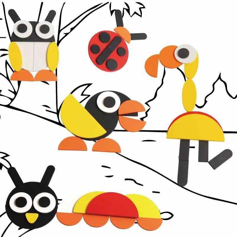Montessori จิ๊กซอว์ปริศนาความคิดสร้างสรรค์ DIY ปริศนาของเล่นสำหรับเด็กวัยหัดเดินเด็กหนุ่มสาวและเด็กวันเกิดของขวัญการจัดส่งจากรัสเซีย