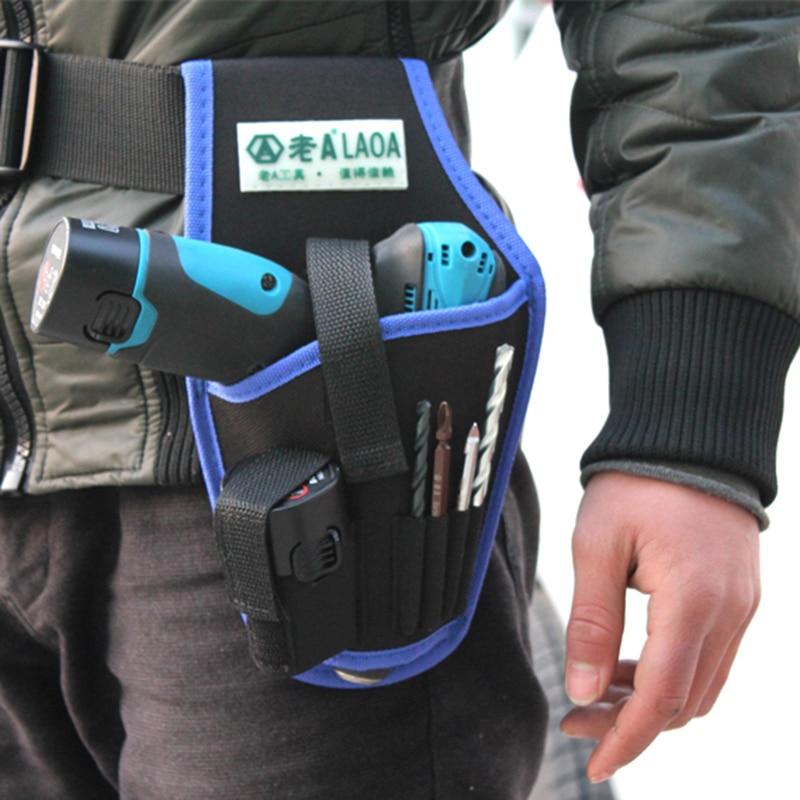 LAOA Vysoce kvalitní elektrická vrtací taška Přenosný Profesionální elektrikář Pásová taška Domácí elektrická vrtačka