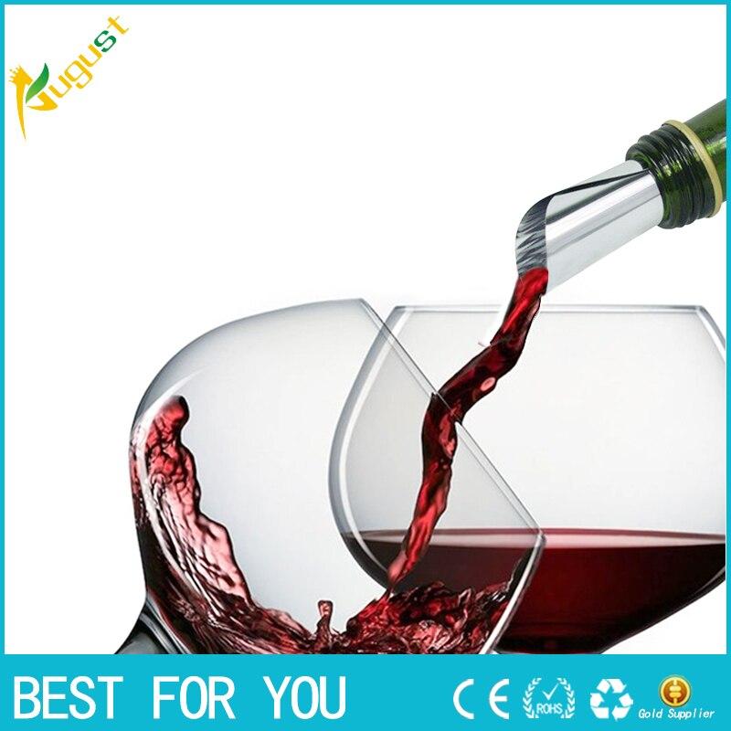 1000pcs lot high quality Disk Pourer Wine Whisky Foil Pourers Stop Drop Reusable Spout Wine Bar