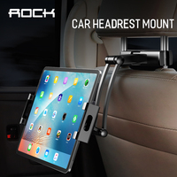Rock Holder For Tablet PC Auto 360 Car Back Seat Headrest Mounting Holder Tablet Universal Stretchable For Ipad Xiaomi Samsung