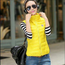 Autumn/Winter Waistcoat Women Fashion Cotton Vest Female Warm Outerwear Casual Wadded Jacket Plus Size 11 Colors Coat MC1152