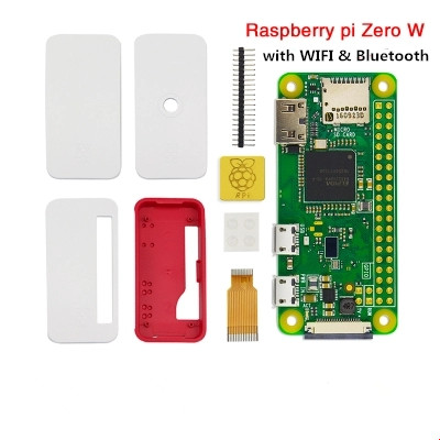 US $19 26  Original For Raspberry Pi Zero W Kit Case & Power Adapter & Heat  Sink & Wifi Bluetooth Card Combination Suit-in Computer Cables &