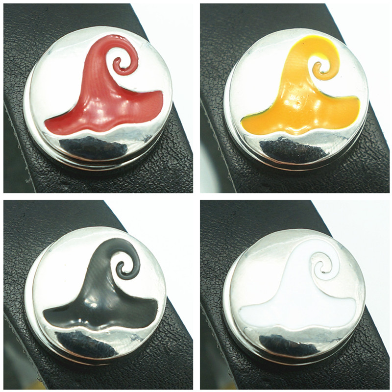 New Fashion Round 4colors beauty Magic Hat metal 18mm snap buttons fit 18mm snap jewelry wholesale KZ3285