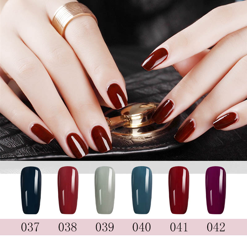 N W Moka 10ml French Style Red Color Gel Polish Diy Your Nail Design Soak Off For Christmas In From Beauty Health