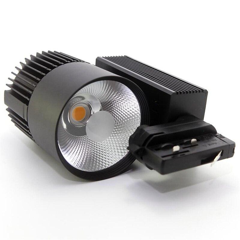 4Wires 3 Phase 35W COB LED Track Light AC110V 240V Track Rail LED Spot Light Clothing