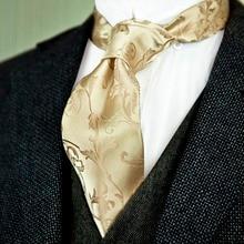 ec80cec32051 Elegant Floral Solid Cream Beige Champagne Gold Red Mens Ties Neckties 100% Silk  Jacquard Woven