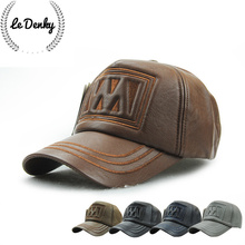 Free shipping to keep warm high-grade leather mature men of letters baseball cap leisure outdoor quickly recover golf cap
