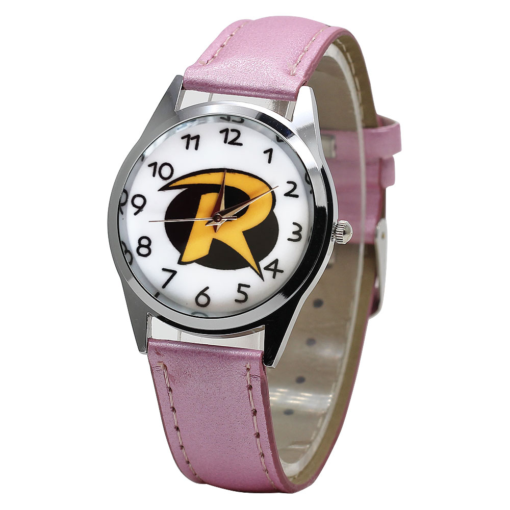 Hot Fashion New Letters Children's Watches Cartoon Leather Boy Sports Watch Kids Girls Birthday Party Gift White Pink Clock
