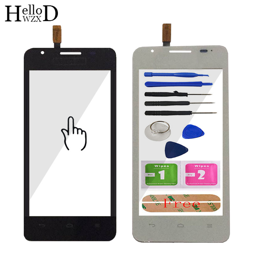 Touch Screen Front For Huawei Ascend G510 G520 G525 U8951 T8951 Lens Sensor For Huawei G510 Touch Glass Digitizer Panle Adhesive