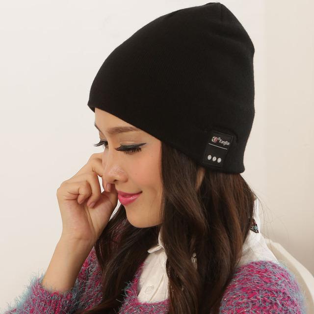 2016 Recién Llegado de Wireless Auriculares Estéreo Altavoz de la Música MP3 de la Gorrita Tejida Beanie Hat Cap para Teléfonos Inteligentes Hombres de Las Mujeres Unisex