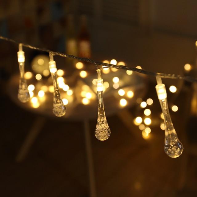 String Light Bulbs Outdoor 5m 40 bulbs outdoor waterproof fairy garden lights waterproof water 5m 40 bulbs outdoor waterproof fairy garden lights waterproof water drop string lights christmas decoration workwithnaturefo
