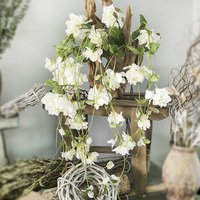 170cm Long Ivory Bougainvillea Vine Artificial Flowers Silk Plastic Plants Leaves High Quality Wall Hanging Rattan