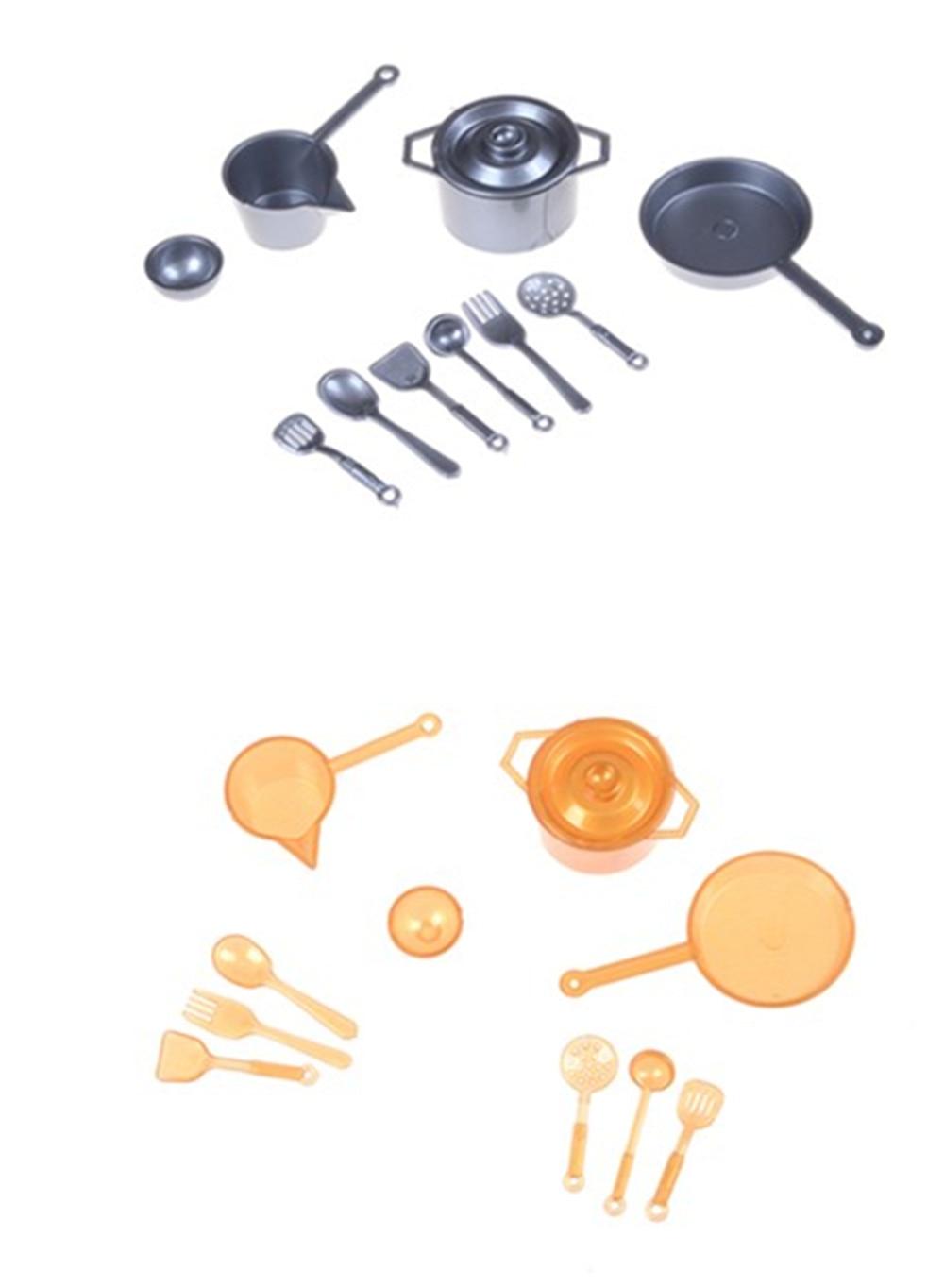 10pcs/set 1:12 Dollhouse Miniature Figure Fork Pot Kitchen Set Food Toys For Children Accessories Dolls Brinquedos Meninon