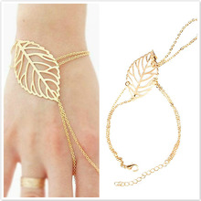 Simple Multilayer Hollow Finger Leaves Bracelets For Women Fashion Gold Silver Color Beach Party Jewelry Gifts WD308