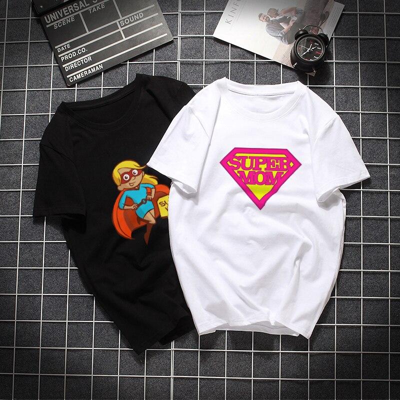 Cartoon Super Mom Tshirt Women Cotton Harajuku Aesthetic 2019 Short Sleeve T Shirt Plus Size Gothic Tumblr Femme Top Tee Clothes