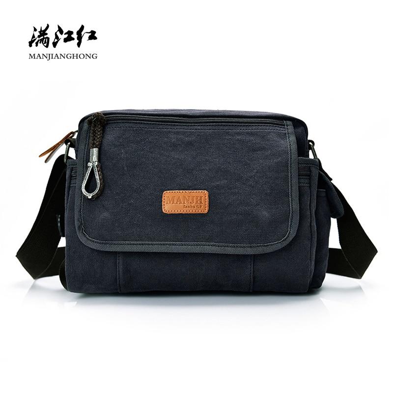 New Fashion Canvas Small Messenger Bag Men Casual Crossbody Bags For Men  Satchel Leisure Male Shoulder Sling Bags For Men 1380 79fab9b0cb98