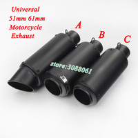 Universal 51mm 60mm Motorcycle SC GP Exhaust Escape Modified Scooter Muffler For S1000RR CBR1000RR Z1000 ER6N R6 Ninja 650 MT 03
