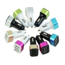3-USB Car Charger Adapter Ports 5.1A For iPhone6 5S Samsung Note4 S5 HTC LG