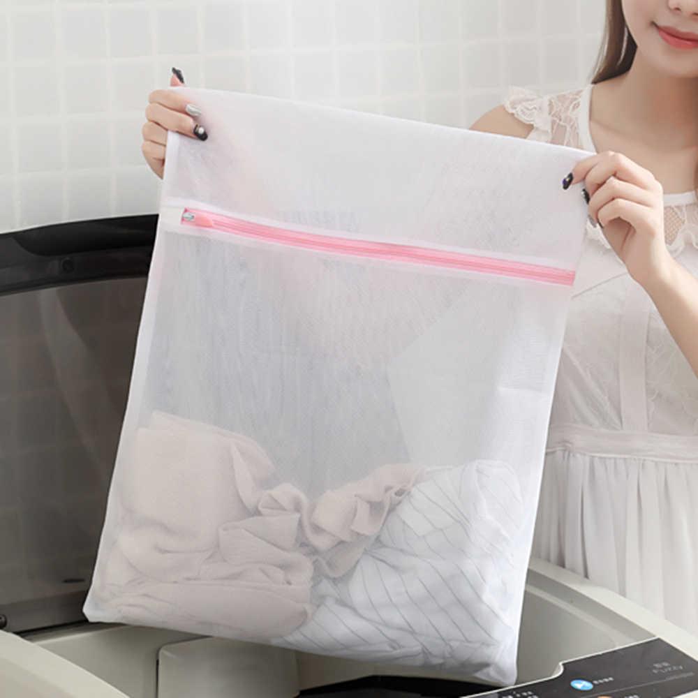 Urijk 3 Tamanho Zíper de Malha Saco de Lavagem Lavanderia Dobrável Delicados Lingerie Meias Sutiã Cueca Máquina de Lavar Roupas de Proteção Net