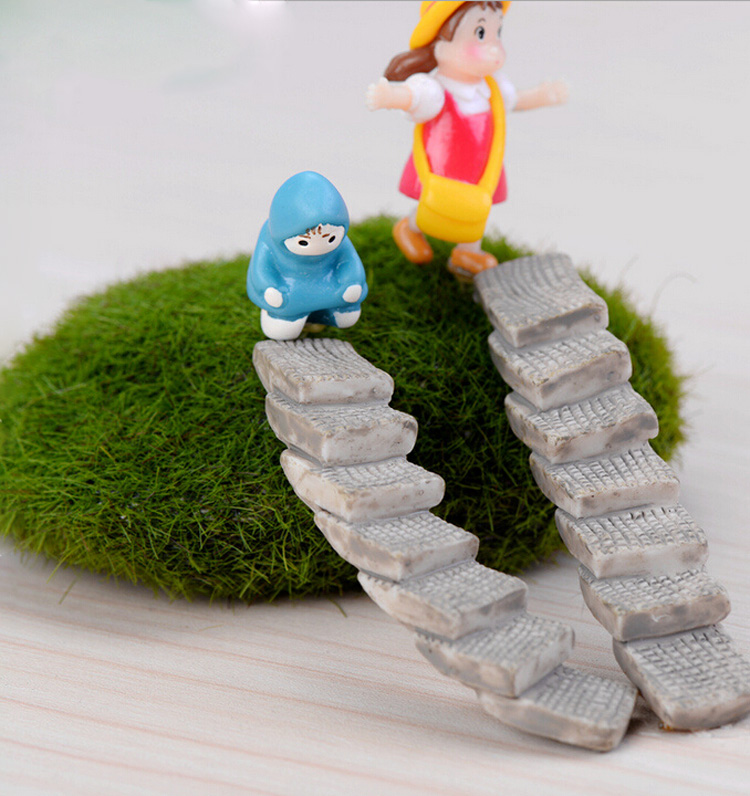 ladder stairs figure decorative mini fairy garden cartoon. Black Bedroom Furniture Sets. Home Design Ideas