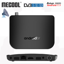 лучшая цена Android TV Box MECOOL M8S Plus DVB - T2 TV Box Android 7.1 Amlogic S905D Quad core 1GB 8GB WiFi Set Top Box 4K IPTV Media Player