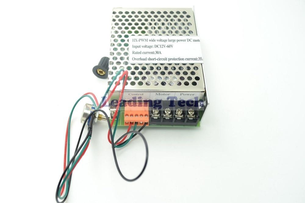 HX PWM Input DC12V 60V Output 30A DC Motor Speed Controller Driver