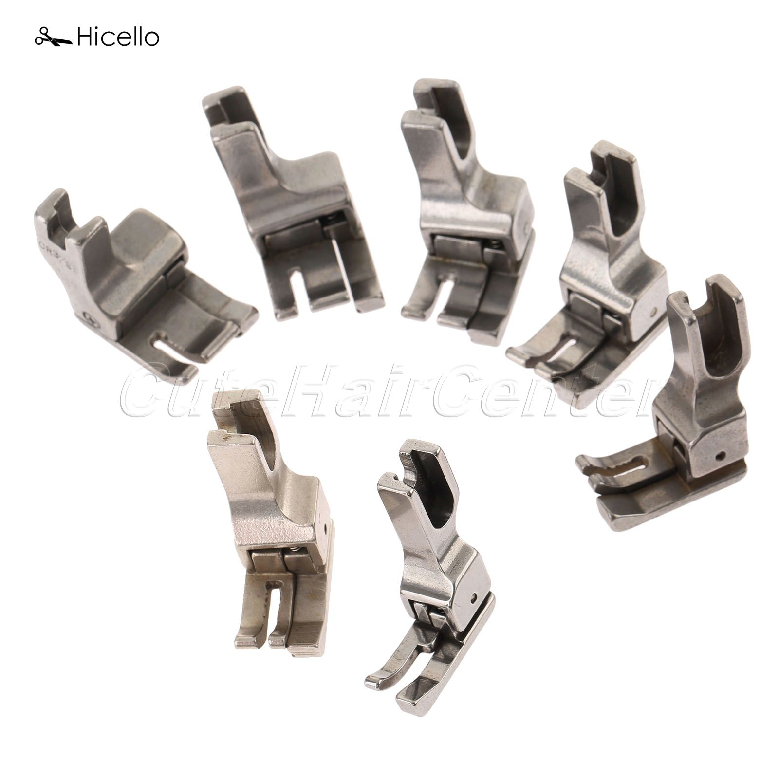1PC Industrial Presser Foot Symaskine Fuld Stål RIGHT & WIDE Trykfod 1.6mm / 3.2mm / 4mm / 4.8mm.6.4mm / 8mm / 9.5mm costura