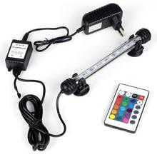 EU US Plug RGB Remote Aquarium Waterproof LED Light