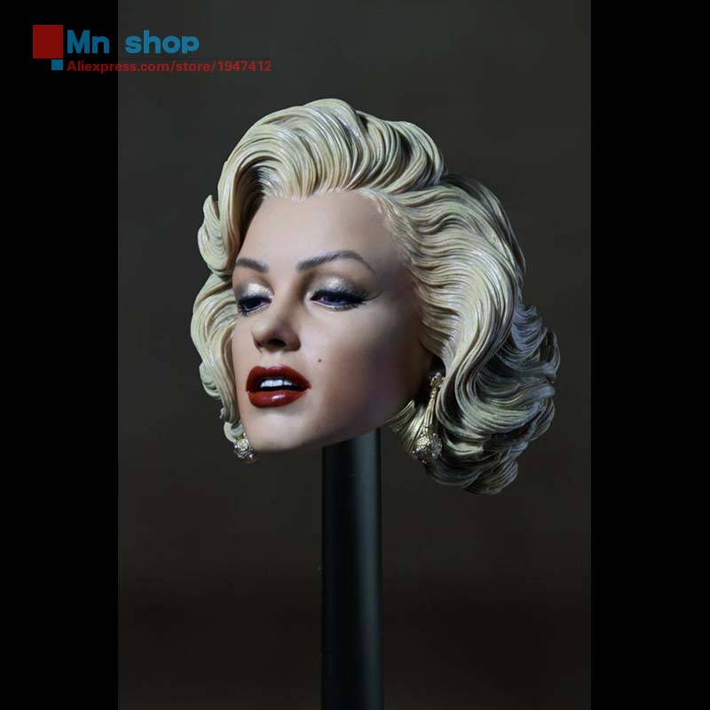 New Beautiful Female Head Carving 1 6 Marilyn Monroe Head Sculpt Fit 12 font b Action