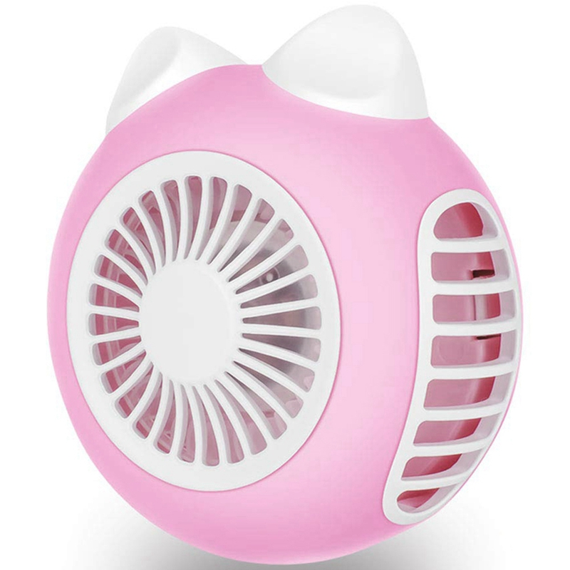 Wearable Personal Usb Small Fan, Mini Handheld Fan, 360 Rotating Quiet Portable Fan, Internal Battery Operated Powered Recharg